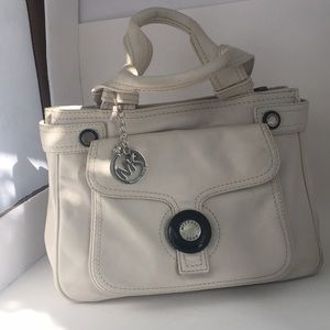Michael Kors  white-cream leather satchel (B)